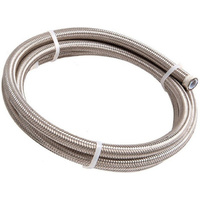 Aeroflow #6 NYLON BRAIDED A/C HOSE STAINLESS OUTER 3 METER LENGTH