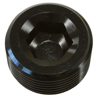 Aeroflow 1/8'' NPT PORT PLUG STEEL BLACKCOATED
