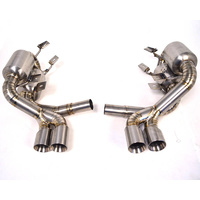 Agency Power Titanium Exhaust w/Quad Tips For Porsche 997 Carrera 3.6L