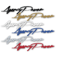 Agency Power 10inch Cursive Vinyl Sticker