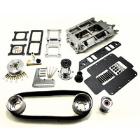 8-71 Blower Drive Kit - Suit BB Chev STD Deck, 2V Accessory, Rectangle Port, Polished