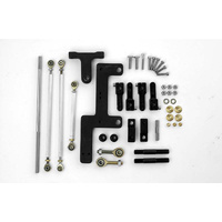 Dual Carb Linkage Kit - Suit 4160 Holley & Edelbrock/Carter Carburettors, Inline Mount