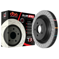 DBA 4000 Series T3 Front XD Series Rotor 352mm Ford Mustang