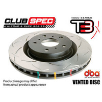 4000 Series T3 Rear Slotted Rotor - 290mm Rotor (DBA4653S)