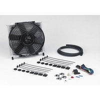 "Hydra-Cool Heavy Duty Transmission Cooler - With 10"" Thermo Fan & 3/8"" Push-On Hose, 280mm (W) x 300mm (L) x 69mm (Thick With Fan)"
