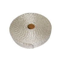 Exhaust Heat Wrap Ceramic Fibre Glass 3mm Thick 25mm Wide 15M Long 800c (HWC03)