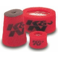 Red Foam Oval Straight Precharger Filter Wrap (KN25-3340)