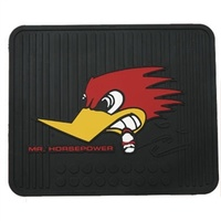 Utility Rubber Floor Mats - Clay Smith With Woodpecker Logo