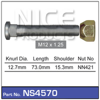 Extended Wheel Stud & Nut Front & Rear (NS4570)