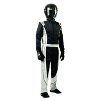Crossover Multi-Layer Suit - X-Large, Black-White-Grey, SFI-5