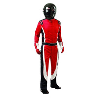 Crossover Multi-Layer - Suit Medium, Red-White-Black, SFI-5