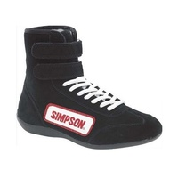 High Top Driving Shoe - Size 9 Black, SFI Approved
