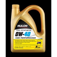 Full Synthetic 0W-40 High Performance Engine Oil - 5L